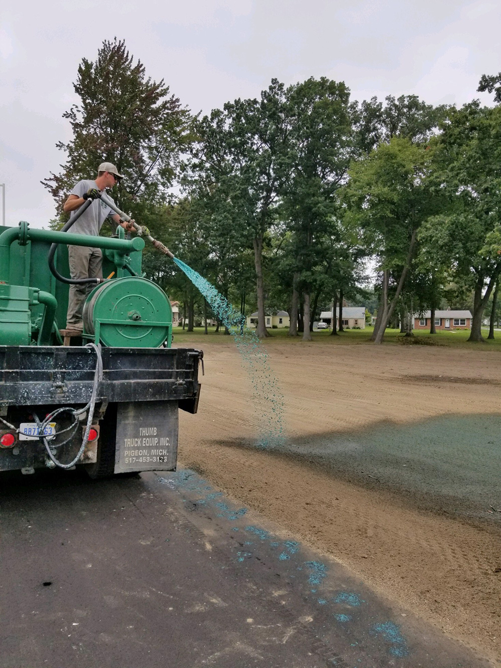 commercial hydro seeding in Michigan